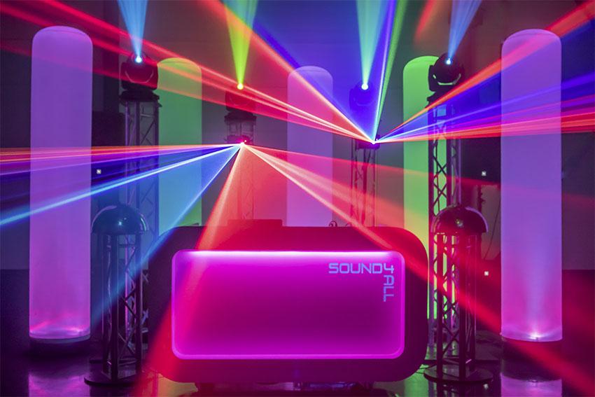 Bruiloft Dj Sound4all met Lasershow op je huwelijksfeest