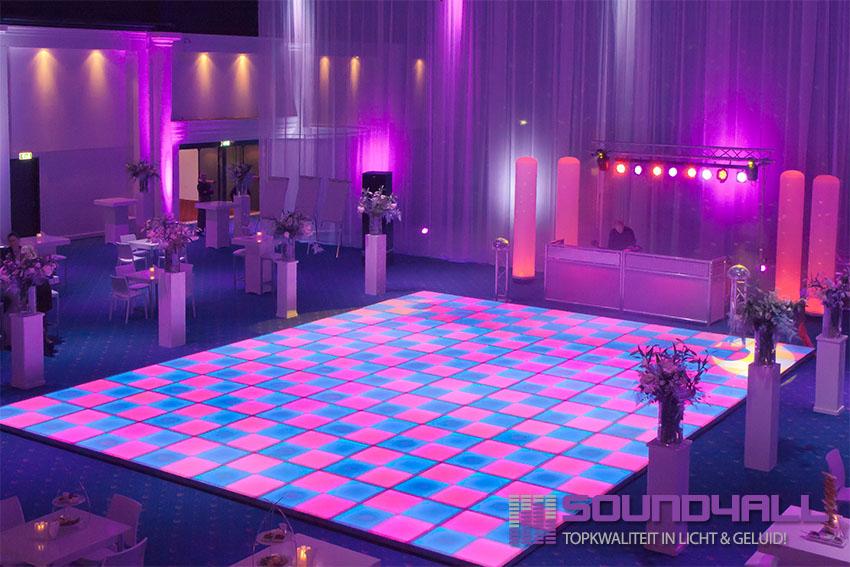 Verlichte led dansvloer huren goedkoopste en dunste van Nederland