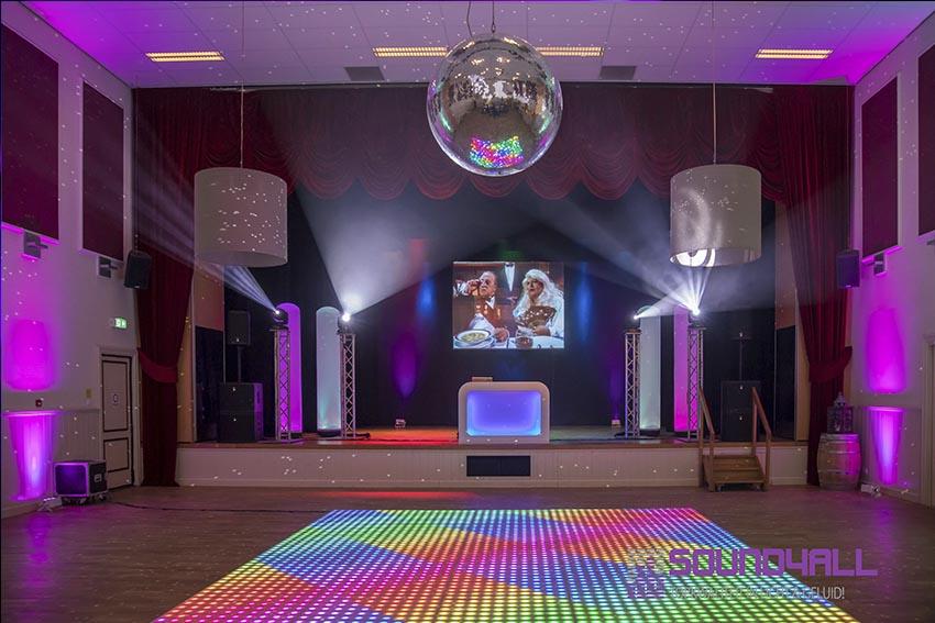 Verlichte dansvloer huren voor disco feest